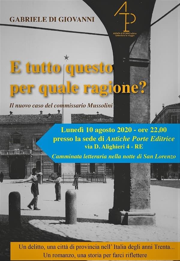 Il nuovo caso del Commissario Marino Mussolini nella Reggio anni Trenta